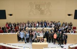 Aschaffenburger Jugendliche im Bayerischen Landtag