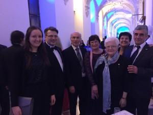 Neujahrsempfang des Ministerpräsidenten: Maria Hock, Manfred Brenneis und Dr. Robert Löwer in München