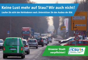 Der Ausbau der B26 ist der CSU Aschaffenburg ein wichtiges Anliegen!