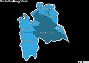Stimmkreiskarte: 602 Aschaffenburg-West